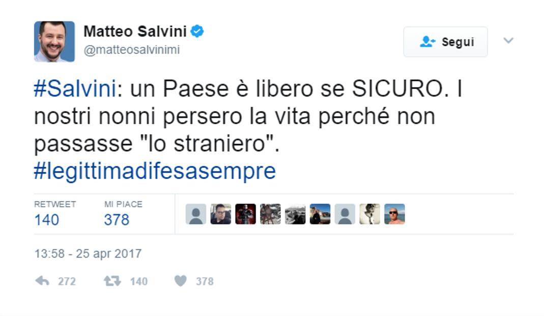 Matteo Salvini 25 aprile