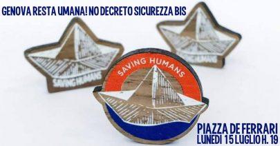 Genova resta umana! Presidio No Decreto Sicurezza Bis