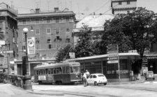 1964 - Il Tram sotto il Ponte (in contruzione)