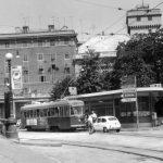 1964: Il Tram sotto il Ponte (in contruzione)