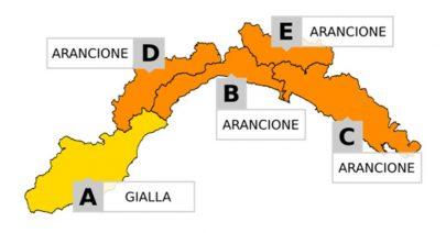 Allerta meteo GIALLA dalle 18; ARANCIONE dalle 22 per piogge e temporali - Roberto Schenone