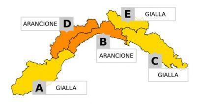 Allerta meteo: dalle 00:00 del 20 ottobre si passa ad ARANCIONE su B e D - aggiornamento