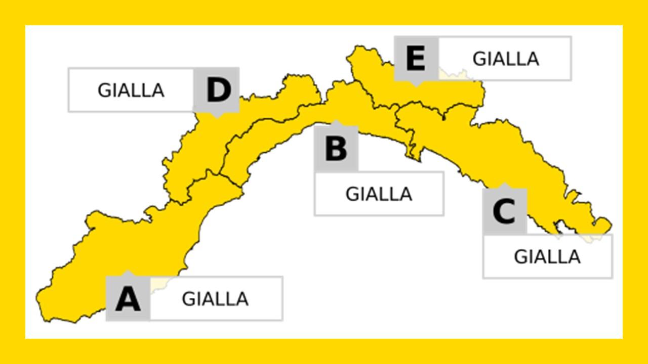 Arpal e Protezione Civile Liguria hanno emanato un'allerta idrogeologica GIALLA per temporali nella giornata di venerdì 3 luglio 2020.