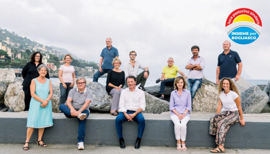 Sei candidate e sei candidati al consiglio comunale con il candidato sindaco Pastorino saluteranno le bogliaschine e i bogliaschini sulla spiaggia del paese