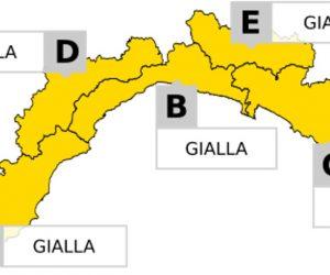 ALLERTA GIALLA su tutta la Liguria dalle 13 del 9 alle 08 del 10 luglio