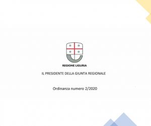 Ordinanza 2-2020 Regione Liguria - Coronavirus